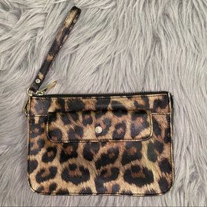 Danier Leather Leopard Rawr Wristlet